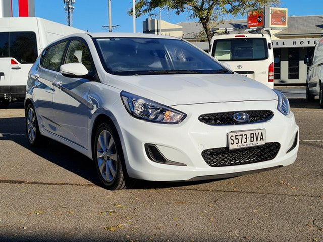 Used Hyundai Accent RB6 MY18 Sport Nailsworth, 2018 Hyundai Accent RB6 MY18 Sport White 6 Speed Sports Automatic Hatchback