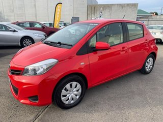 2013 Toyota Yaris NCP130R YR Red 4 Speed Automatic Hatchback