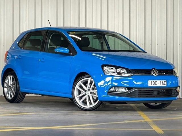 Used Volkswagen Polo 6R MY15 81TSI DSG Comfortline Moorabbin, 2015 Volkswagen Polo 6R MY15 81TSI DSG Comfortline Blue 7 Speed Sports Automatic Dual Clutch
