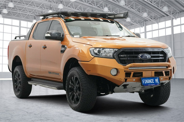 Used Ford Ranger PX MkIII 2019.00MY Wildtrak Victoria Park, 2018 Ford Ranger PX MkIII 2019.00MY Wildtrak Orange 6 Speed Sports Automatic Utility