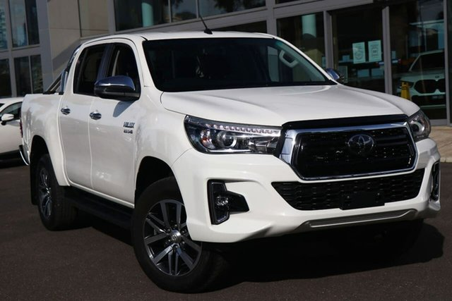 Used Toyota Hilux GUN126R SR5 Double Cab South Melbourne, 2019 Toyota Hilux GUN126R SR5 Double Cab Glacier White 6 Speed Sports Automatic Utility