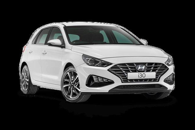 New Hyundai i30 PD.V4 MY21 Active Cardiff, 2021 Hyundai i30 PD.V4 MY21 Active Polar White 6 Speed Sports Automatic Hatchback