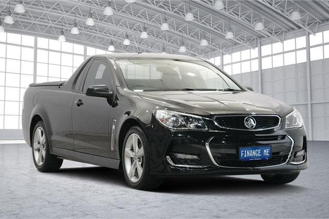 Used Holden Ute VF II MY16 SV6 Ute Victoria Park, 2016 Holden Ute VF II MY16 SV6 Ute Black 6 Speed Manual Utility