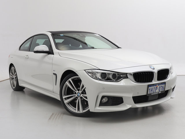 Used BMW 430i F32 MY16.5 M Sport, 2016 BMW 430i F32 MY16.5 M Sport White 8 Speed Automatic Coupe