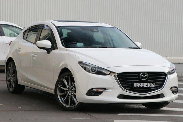 Used Mazda 3 BN5436 SP25 SKYACTIV-MT Astina Wollongong, 2018 Mazda 3 BN5436 SP25 SKYACTIV-MT Astina Snowflake White Pearl 6 Speed Manual Hatchback
