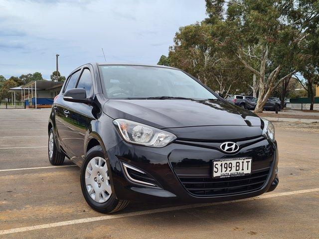 Used Hyundai i20 PB MY14 Active St Marys, 2014 Hyundai i20 PB MY14 Active Black 4 Speed Automatic Hatchback