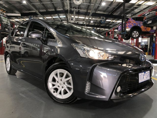 Pre-Owned Toyota Prius v ZVW40R Oakleigh, 2016 Toyota Prius v ZVW40R Graphite 1 Speed Constant Variable Wagon Hybrid