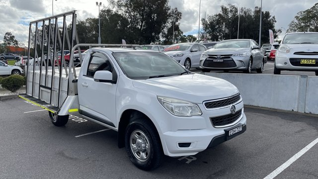 Used Holden Colorado RG MY13 LX Maitland, 2013 Holden Colorado RG MY13 LX White 5 Speed Manual Cab Chassis