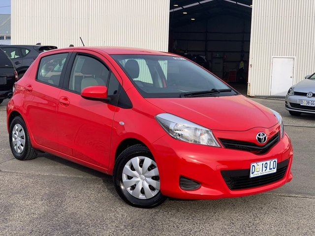 Used Toyota Yaris NCP130R YR Moonah, 2013 Toyota Yaris NCP130R YR Red 4 Speed Automatic Hatchback
