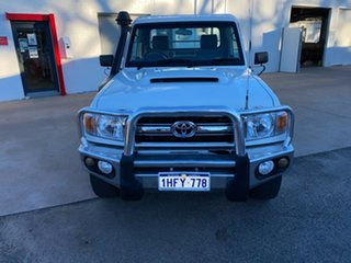 2012 Toyota Landcruiser VDJ79R MY10 GXL French Vanilla 5 Speed Manual Cab Chassis.