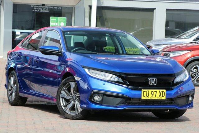 Used Honda Civic 10th Gen MY19 VTi-LX Parramatta, 2019 Honda Civic 10th Gen MY19 VTi-LX Blue 1 Speed Constant Variable Sedan
