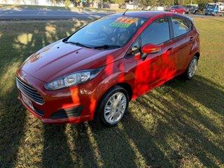 2013 Ford Fiesta WZ Ambiente Orange 5 Speed Manual Hatchback.