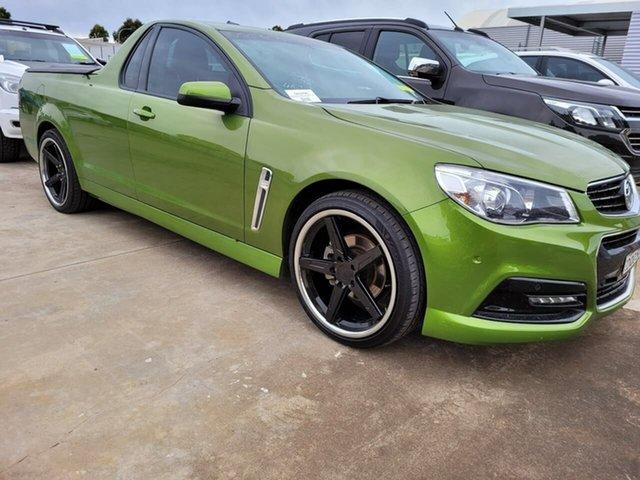 Used Holden Ute VF MY15 SV6 Ute Elizabeth, 2015 Holden Ute VF MY15 SV6 Ute Green 6 Speed Manual Utility