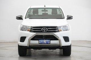 2017 Toyota Hilux GUN136R SR Double Cab 4x2 Hi-Rider White 6 Speed Sports Automatic Utility.