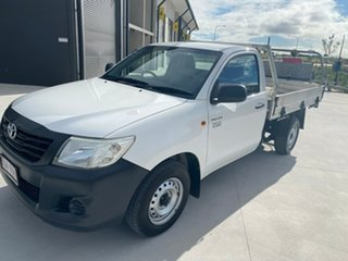 2015 Toyota Hilux TGN16R MY14 Workmate 4x2 White 5 Speed Manual Cab Chassis.