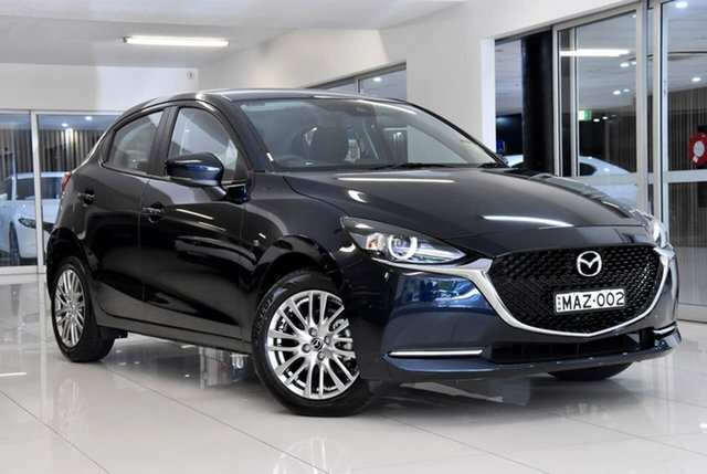 Demo Mazda 2 DJ2HAA G15 SKYACTIV-Drive Evolve Waitara, 2021 Mazda 2 DJ2HAA G15 SKYACTIV-Drive Evolve Blue 6 Speed Sports Automatic Hatchback