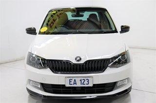 2017 Skoda Fabia NJ MY17 81TSI DSG Monte Carlo White 7 Speed Sports Automatic Dual Clutch Hatchback.