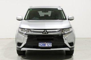 2017 Mitsubishi Outlander ZL MY18.5 LS 7 Seat (2WD) Silver Continuous Variable Wagon.