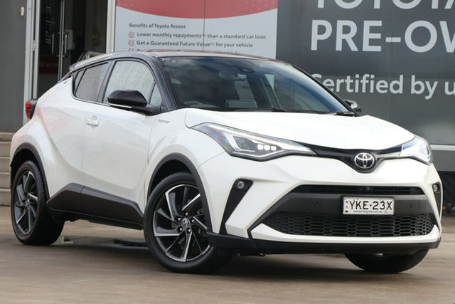 Pre-Owned Toyota C-HR NGX50R Koba S-CVT AWD Guildford, 2020 Toyota C-HR NGX50R Koba S-CVT AWD Crystal Pearl & Black Roof 7 Speed Constant Variable Wagon