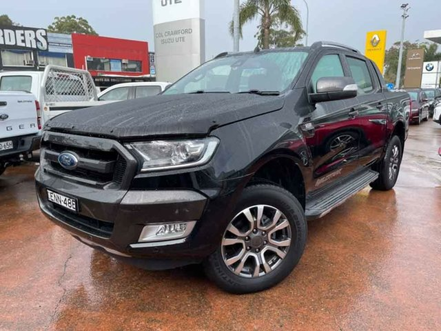 Used Ford Ranger PX MkII MY17 Update Wildtrak 3.2 (4x4) Brookvale, 2017 Ford Ranger PX MkII MY17 Update Wildtrak 3.2 (4x4) Black 6 Speed Manual Dual Cab Pick-up