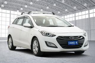 2014 Hyundai i30 GD Active Tourer White 6 Speed Sports Automatic Wagon.