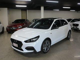 2020 Hyundai i30 PD.V4 MY21 N Line D-CT Premium White 7 Speed Sports Automatic Dual Clutch Hatchback.