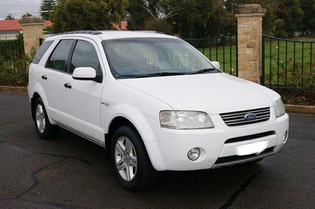 Used Ford Territory SY Ghia (4x4) Blair Athol, 2005 Ford Territory SY Ghia (4x4) White 6 Speed Auto Seq Sportshift Wagon
