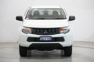 2017 Mitsubishi Triton MQ MY17 GLX Double Cab 4x2 White 5 Speed Sports Automatic Utility.