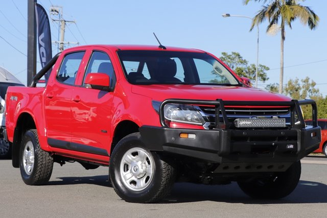 Used Holden Colorado RG MY18 LS Pickup Crew Cab Rocklea, 2017 Holden Colorado RG MY18 LS Pickup Crew Cab Absolute Red 6 Speed Sports Automatic Utility