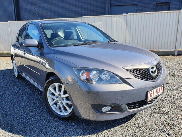 Used Mazda 3 Toowoomba, 2008 Mazda 3 Maxx Sport Stat Grey 5 Speed Manual Hatchback