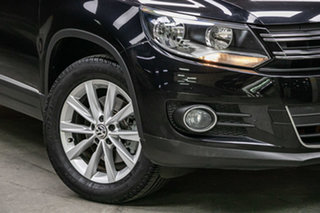 2014 Volkswagen Tiguan 5N MY15 130TDI DSG 4MOTION Black 7 Speed Sports Automatic Dual Clutch Wagon.