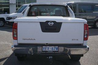 2010 Nissan Navara D40 ST-X King Cab White 6 Speed Manual Utility