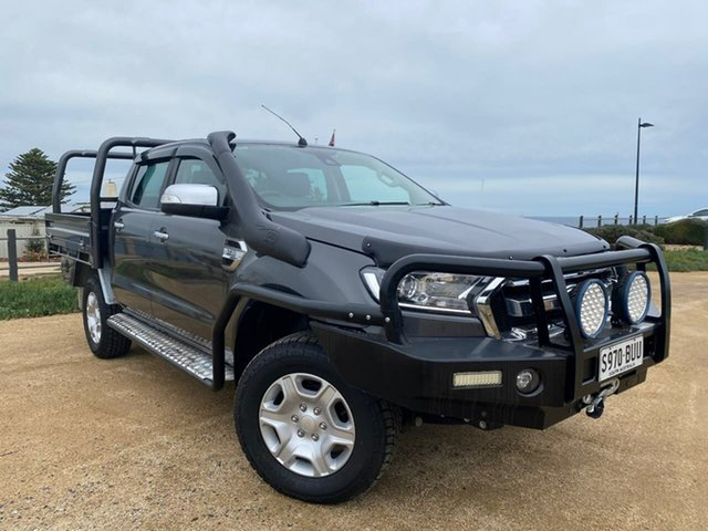 Used Ford Ranger PX MkII 2018.00MY XLT Double Cab Christies Beach, 2018 Ford Ranger PX MkII 2018.00MY XLT Double Cab Grey 6 Speed Sports Automatic Utility