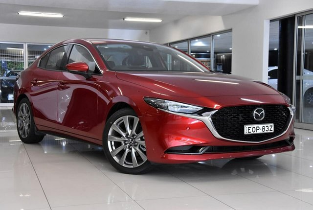 Demo Mazda 3 BP2SLA G25 SKYACTIV-Drive Astina Waitara, 2021 Mazda 3 BP2SLA G25 SKYACTIV-Drive Astina Red 6 Speed Sports Automatic Sedan