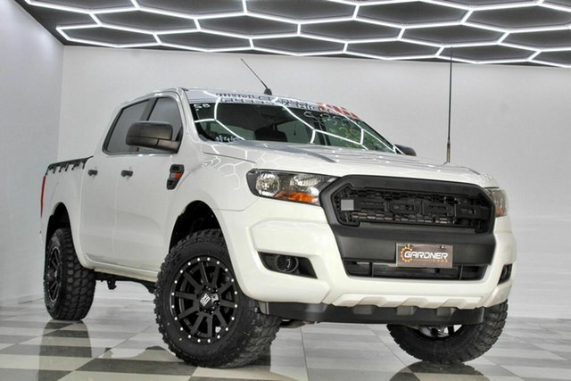 Used Ford Ranger PX MkII MY17 XL 2.2 Hi-Rider (4x2) Burleigh Heads, 2016 Ford Ranger PX MkII MY17 XL 2.2 Hi-Rider (4x2) White 6 Speed Automatic Crew Cab Pickup