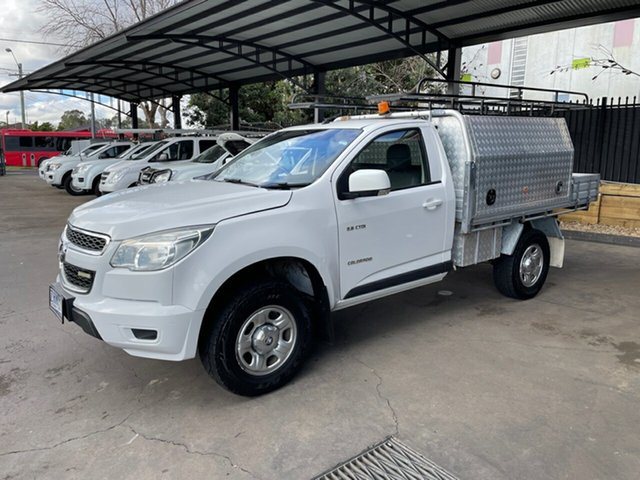 Used Holden Colorado RG LX (4x2) Bankstown, 2012 Holden Colorado RG LX (4x2) White 6 Speed Automatic Cab Chassis