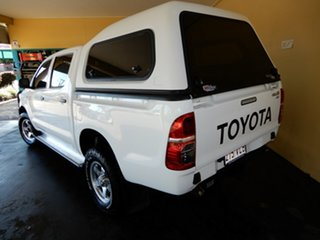 2012 Toyota Hilux KUN26R MY12 SR (4x4) White 5 Speed Manual Dual Cab Chassis.