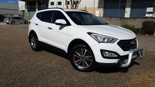 2015 Hyundai Santa Fe DM MY15 Elite CRDi (4x4) White 6 Speed Automatic Wagon.