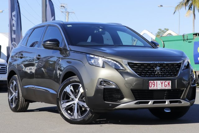 Used Peugeot 3008 P84 MY18 GT Line SUV Rocklea, 2018 Peugeot 3008 P84 MY18 GT Line SUV Amazonite Grey 6 Speed Sports Automatic Hatchback