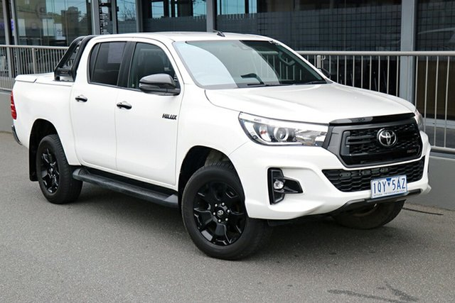 Pre-Owned Toyota Hilux GUN126R Rogue Double Cab Preston, 2020 Toyota Hilux GUN126R Rogue Double Cab White 6 Speed Sports Automatic Utility