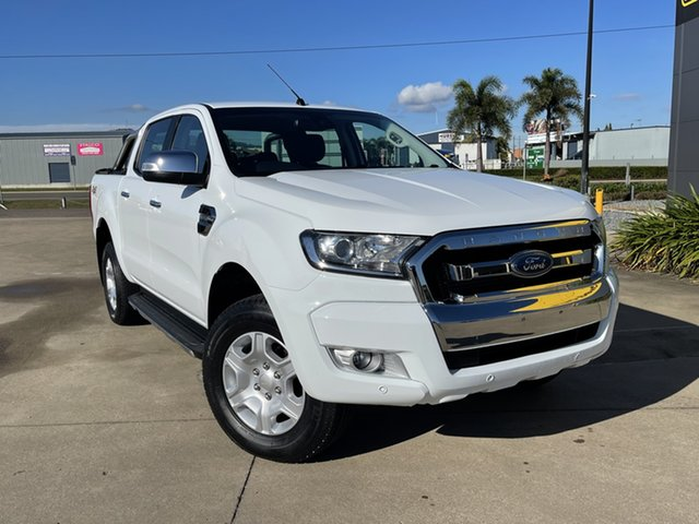 Used Ford Ranger PX MkII XLT Double Cab Townsville, 2017 Ford Ranger PX MkII XLT Double Cab White/290118 6 Speed Sports Automatic Utility