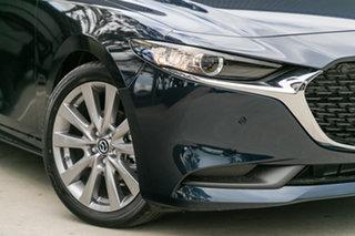 2021 Mazda 3 BP2SLA G25 SKYACTIV-Drive Astina Deep Crystal Blue 6 Speed Sports Automatic Sedan.