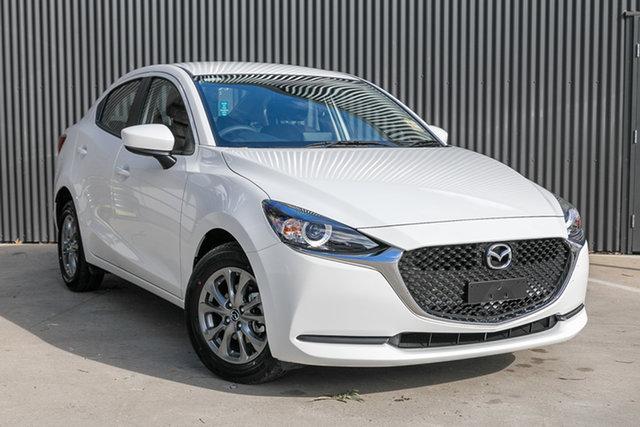 New Mazda 2 DL2SAA G15 SKYACTIV-Drive Pure Mornington, 2021 Mazda 2 DL2SAA G15 SKYACTIV-Drive Pure Snowflake White Pearl 6 Speed Sports Automatic Sedan