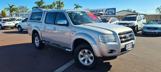 2007 Ford Ranger PJ XLT Crew Cab Silver 5 Speed Automatic Utility.