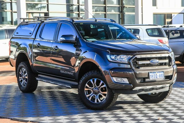 Used Ford Ranger PX MkII Wildtrak Double Cab Attadale, 2017 Ford Ranger PX MkII Wildtrak Double Cab Grey 6 Speed Sports Automatic Utility