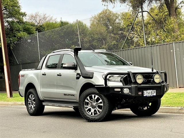 Used Ford Ranger PX MkII Wildtrak Double Cab Hyde Park, 2016 Ford Ranger PX MkII Wildtrak Double Cab Silver 6 Speed Sports Automatic Utility