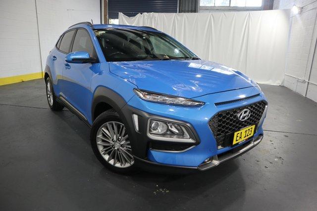 Used Hyundai Kona OS MY18 Elite 2WD Castle Hill, 2017 Hyundai Kona OS MY18 Elite 2WD Blue 6 Speed Sports Automatic Wagon