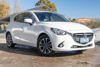 2014 Mazda 2 DJ2HAA Genki SKYACTIV-Drive Snowflake White Pearl 6 Speed Sports Automatic Hatchback.