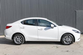 2021 Mazda 2 DL2SAA G15 SKYACTIV-Drive Pure Snowflake White Pearl 6 Speed Sports Automatic Sedan.