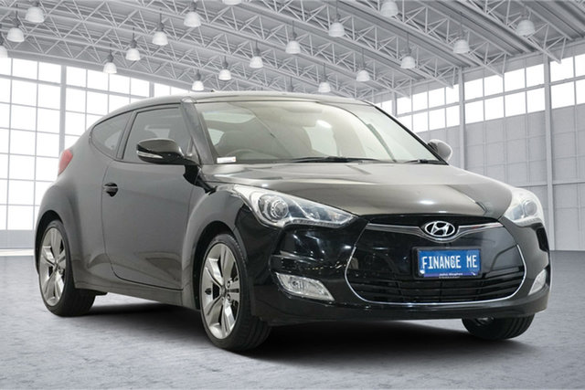 Used Hyundai Veloster FS2 Coupe D-CT Victoria Park, 2014 Hyundai Veloster FS2 Coupe D-CT Black 6 Speed Sports Automatic Dual Clutch Hatchback